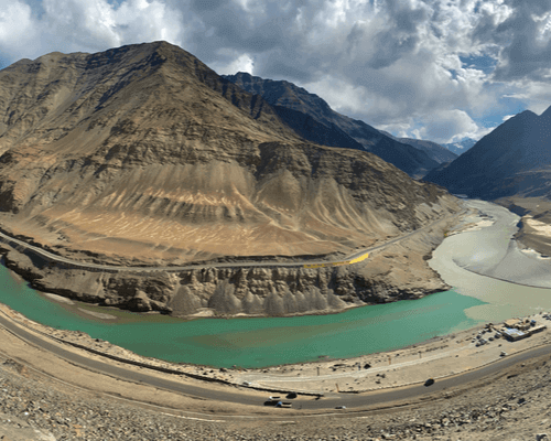 Sangam river go2ladakh