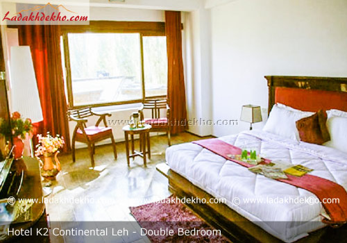 hotel-k2-continental-ladakh-double-bedroom
